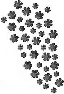 Fetco 家居装饰爆发 20 小和 20 大花相框,黑色
