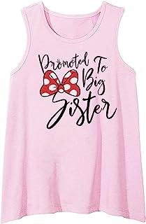 Rixin 幼童女孩无袖背心上衣 Promoted to Big Sister 背心衬衫婴儿儿童夏季服装
