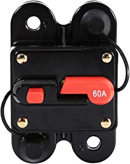 AMONIDA 50A 保险丝架,坚固坚固的断路器重置保险丝架,汽车驱动器 (60A)