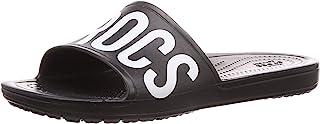 Crocs 女士 Sloane Logo Mania 拖鞋