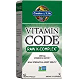Garden of Life 维生素K - 复合全食物维生素补充剂,纯素食,60粒胶囊