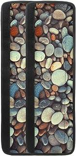 LJMKZJN Pebbles 冰箱门把手盖保持冰箱炉灶烤箱微波炉洗碗机清洁,防止指纹和食物污渍防滑设计 2 件