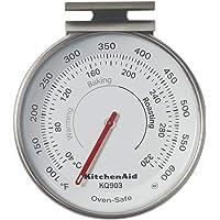 KitchenAid 3 英寸(约 7.6 厘米)烤箱温度计,温度范围:100F 至 600F,黑色