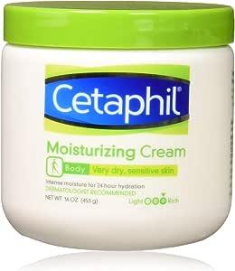 Cetaphil 丝塔芙 保湿霜 适用于非常干燥/敏感的皮肤,无香料,16盎司/453克(3件)