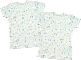Baby Story 2件装 全花纹印刷 半袖圆领衬衫 KT15134 日本制造 萨克斯 95