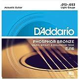 D'Addario EJ15 磷青铜原声吉他弦EJ16 1 件装 Light, 12-53