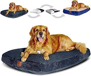 Floppy Dawg 大号狗床,带两个可拆卸、可机洗的枕套和防水内衬。可互换的 2 合 1 经典枕头,Ortho *泡沫混合材质。专为体重不超过 100 磅(约 40.8 公斤)的大型犬设计。