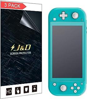 J&D 兼容 Nintendo Switch Lite 屏幕保护膜,3 支装 [防眩光] [防指纹] [全覆盖] 亚光保护膜屏幕保护膜 适用于 Nintendo Switch Lite 哑光屏幕保护膜