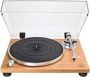 Audio Technica 铁三角 AT-LPW30TK唱机,带皮带驱动木质底座