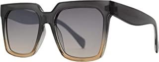 复古超大奢华时尚方形太阳镜带扁平镜片适合女士