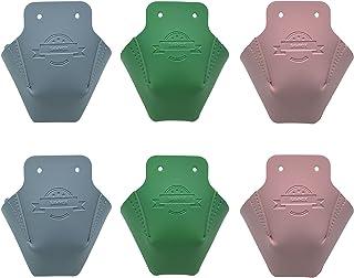 SAWHOX 脚趾保护罩,四轮滑冰皮革配件,适用于室内户外滑冰(3 对和 3 对彩色鞋带)