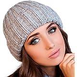 Braxton 帽子 - 女式针织羊毛无檐小便帽 - 渔夫男式冬季羊毛灰帽