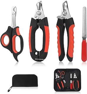 狗狗*剪修剪器套装 Penzance - 快速*防护,避免过度切割,不锈钢剃刀锋利刀片,坚固防滑手柄,储物袋和*锉,专业宠物*。