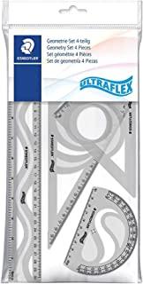 Staedtler 施德楼 几何套装 超柔 4 件套 带标尺 角度刀和绘图三角形 569PB4UF-S