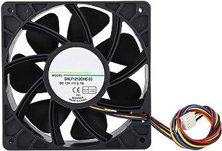 fosa 快速散热机箱风扇 SHLF1212CHE-03 电脑冷却风扇 2.7A DC12V 12CM 静音,带双滚珠轴承,用于极端冷却或服务器