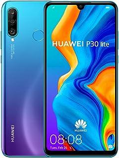 Huawei 华为 P30 Lite 256 GB 6.15 英寸全高清Dewdrop 显示屏智能手机 带 MP AI 超宽三摄像头,6 GB 内存,Android 9.0无锁卡手机,英国版,蓝色