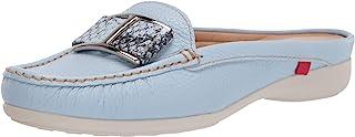 MARC JOSEPH NEW YORK 女式皮革巴西制造奢华拖鞋带搭扣细节