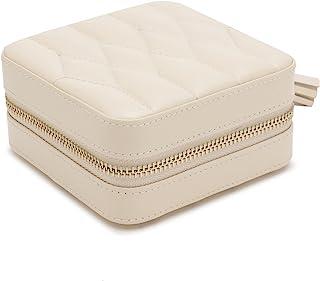 WOLF 329953 Caroline Caroline 拉链旅行盒,4.5x4.5x2.5英寸/约11.43x11.43x6.35厘米,象牙色