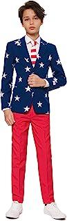 Opposuits 疯狂西装 适合 10-16 岁男孩的不同印花 – 配有夹克、裤子和系带,趣味设计