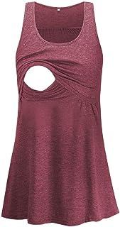 Glampunch 孕妇护理上衣无袖舒适哺乳背心 T 恤孕妇 T 恤酒红色