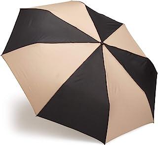 totes 自动开合雨伞,NeverWet Technology,成人家庭特大雨伞 139.7 cm 覆盖,黑色和棕褐色