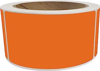 皇家*姓名标签标签 4x2 空白贴纸卷橙色 (7.5cm x 2.5cm) - 250 包