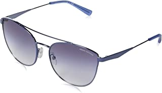 AX Armani Exchange 女式 Ax2032s 猫眼金属太阳镜