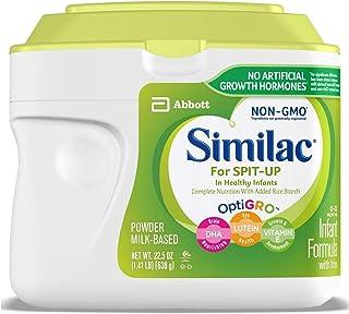 Similac 雅培 Spit-Up 婴儿配方奶粉,含铁,粉末,1.41 磅(638g)