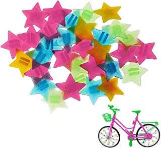 NT-ling 星形自行车轮辐条珠塑料夹珠塑料自行车辐条彩色自行车辐条装饰儿童自行车辐条配件车轮装饰 36 件