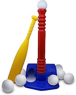 Tundras T 型球套装/带8个球的球适用于幼儿和儿童 - 玩具棒球套装 - 击球 T 恤 - 开发并改善棒球、垒球、Wiffle Ball 技能,适合 1-12 岁男孩和女孩