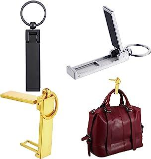 3 件即用包挂钩包衣架系列,钱包手提包挂钩挂架手机支架可折叠时尚旋转挂架,女式手提包收纳折叠桌钩