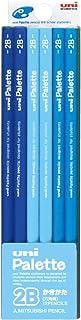 MITSUBISHI 三菱 书写铅笔 uni Palette 2B 淡蓝色 1打 K55602B