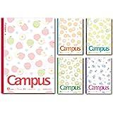 [Kokuyo 国誉] Campus 笔记本 限量版 B5 带间隔点B类线款 Fruity Pop水果图案 5本装 NO…