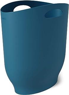 Umbra Harlo 时尚浴室垃圾,小型垃圾桶,家庭或办公室狭窄空间,容量为 2.4 加仑 Lagoon 蓝色 7 x 13 x 12 1012181-1163
