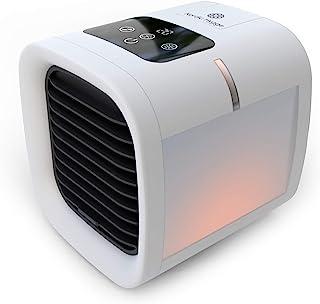 Nordic Hygge AirChill 个人空调 | 2021 年 4 月更新 | 便携式空气冷却器带更新的加湿器风扇 | 全新双面 LED 灯 | 适用于家庭办公室桌面或卧室