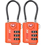 TSA 认证电缆行李锁,可重装组合与合金身体