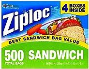 Ziploc Easy Open Tabs Sandwich Bags 125 count (Pack of 4)