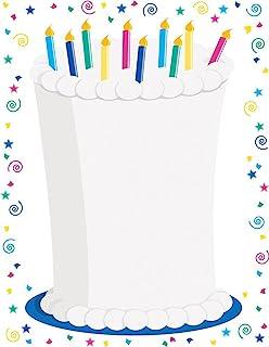 优质纸张! 气球边框字母,80 支,21.59 cm x 27.94 cm (2013168) 蛋糕