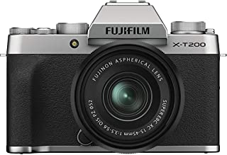 Fujifilm 富士 X-T200 无反光数码相机 w/XC15-45 毫米套件 - 银色