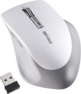 BUFFALO ワイヤレスマウス 5ボタン BlueLED Dpi切替対応 ホワイト BSMBW325WH