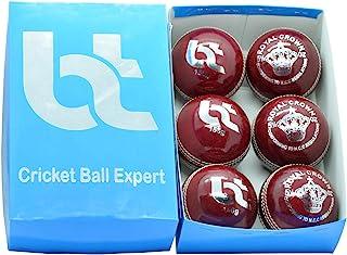 红色 156 克板球,2 件装,6 个球,真皮,卓越品质