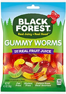Black Forest 虫虫软糖, 4.5-Ounce/128g (12包)