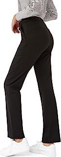 Bamans 瑜伽裤黑色运动七分裤女士紧身打底裤,七分紧身打底裤,高腰收腹设计