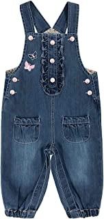 Peacolate 6 个月 - 2 岁女婴工装,带腰带 1 件连体衣 儿童裤子