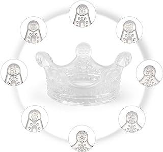 Haakaa 婴儿牙胶 – 2020 年新款婴儿出牙玩具 适用于3个月以上的婴儿食品级硅胶彩色皇冠形牙胶 不含 BPA 颜色透明