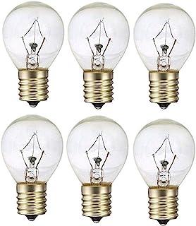 25 瓦 S11 替换灯泡适用于 Lava Lamp 25S11 白炽灯适用于 14.5 英寸熔岩灯和闪光灯,适合中级 E17 插座 130 伏 6 件装