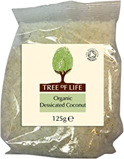 Tree of Life Organic Coconut - Dessicated - 125 g (Pack of 6)