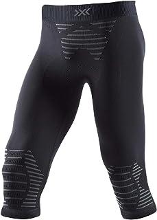 X-BIONIC Invent 4.0 男士3/4运动紧身长裤 适合跑步、慢跑、训练、健身、棒球