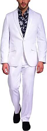 Craft & Soul 男式修身缎面尖领燕尾服独立夹克正装外套