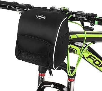 Lixada 自行车把手包 防水自行车篮 自行车前置储物袋 自行车前置储物袋 带防雨罩